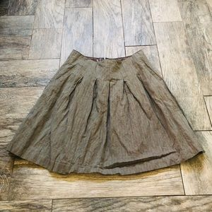Cabi tan lined mini skirt
